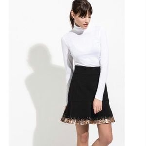 NWT Kit and Ace fit flair black rosewood skirt